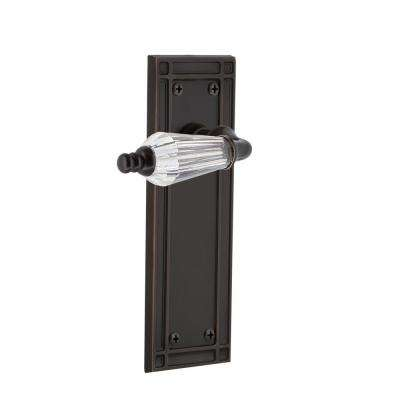 Mission Plate 2-3/8 in. Backset Timeless Bronze Privacy Bed/Bath Parlor Lever