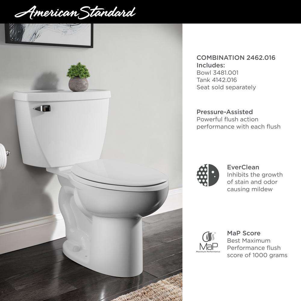 Astonishing American Standard Cadet Pressure Assisted 2 Piece 1 6 Gpf Single Flush Elongated Toilet In White Seat Not Included Ibusinesslaw Wood Chair Design Ideas Ibusinesslaworg
