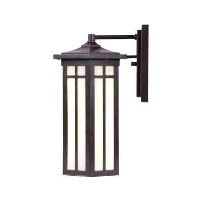 Antique Bronze Outdoor LED Wall Lantern Sconce