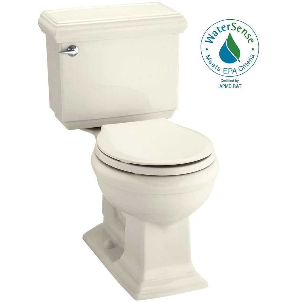 Memoirs Classic 2-piece 1.28 GPF Single Flush Round Toilet with AquaPiston