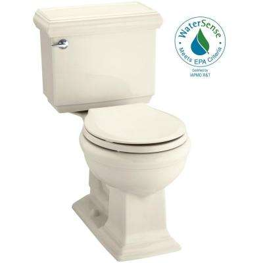 Memoirs Classic 2-piece 1.28 GPF Single Flush Round Toilet with AquaPiston Flushing Technology in Almond