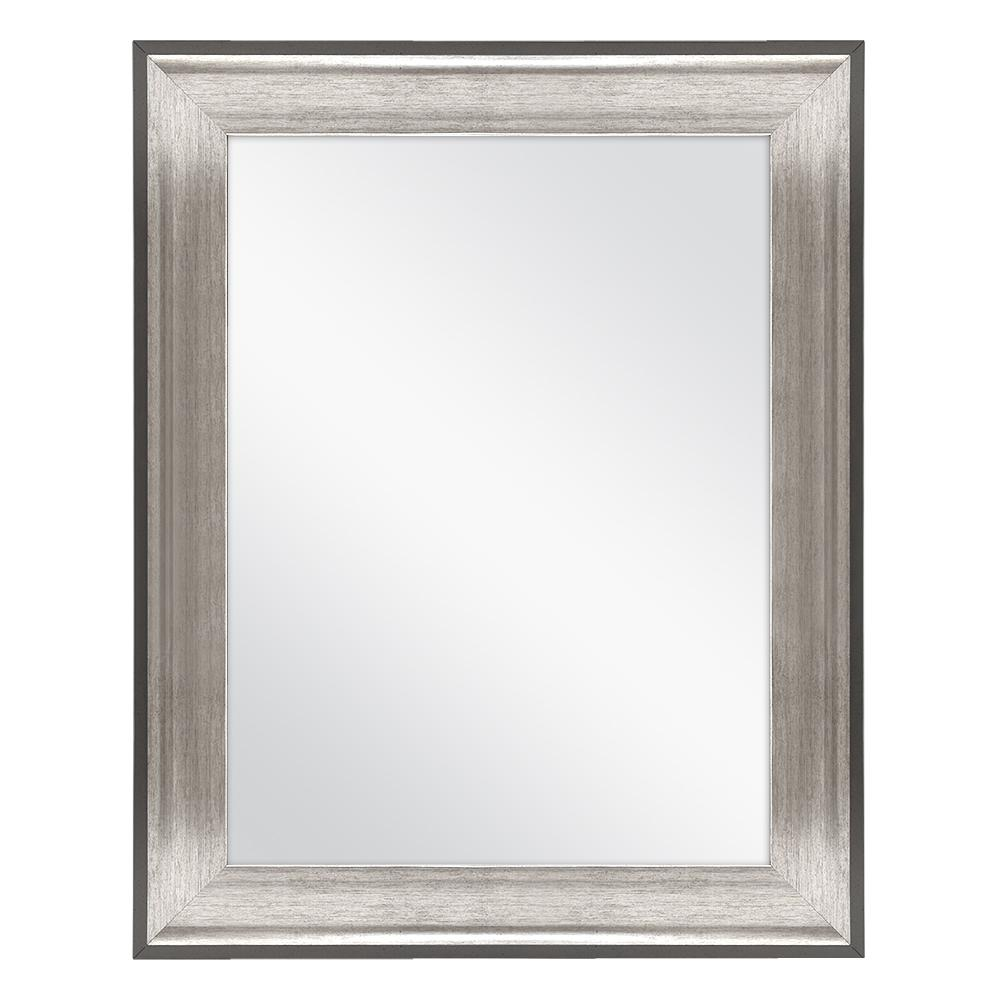 Home Decorators Collection 23 in. W x 29 in. L Framed Fog Free Wall Mirror in Two-Tone Pewter