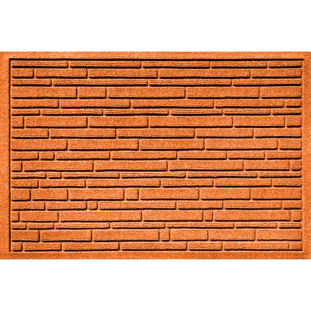 Aqua Shield Broken Brick Orange 17.5 in. x 26.5 in. Door Mat