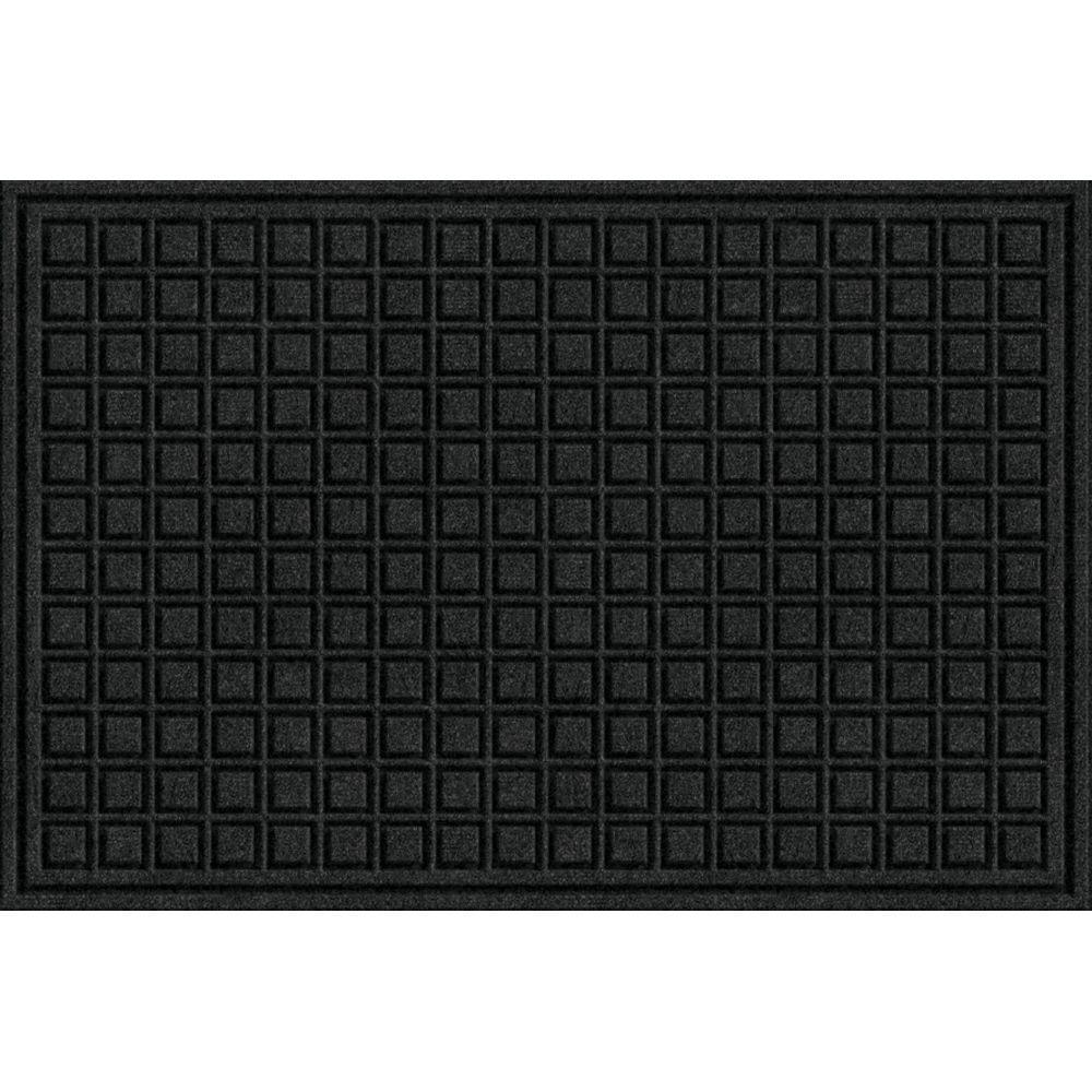 TrafficMASTER Black 24 in. x 36 in. Fiber and Rubber Commercial Door Mat