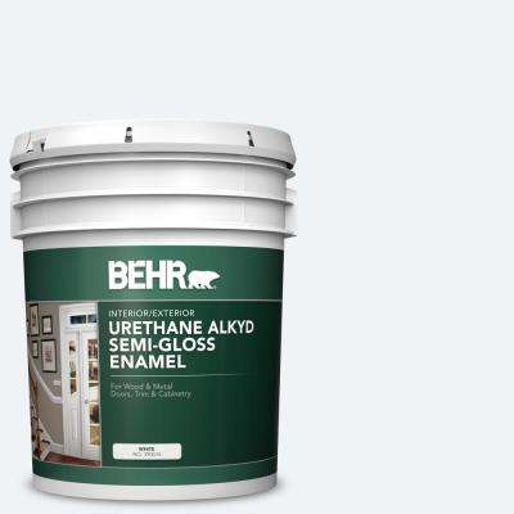 5 gal. #BL-W09 Bakery Box Urethane Alkyd Semi-Gloss Enamel Interior/Exterior Paint