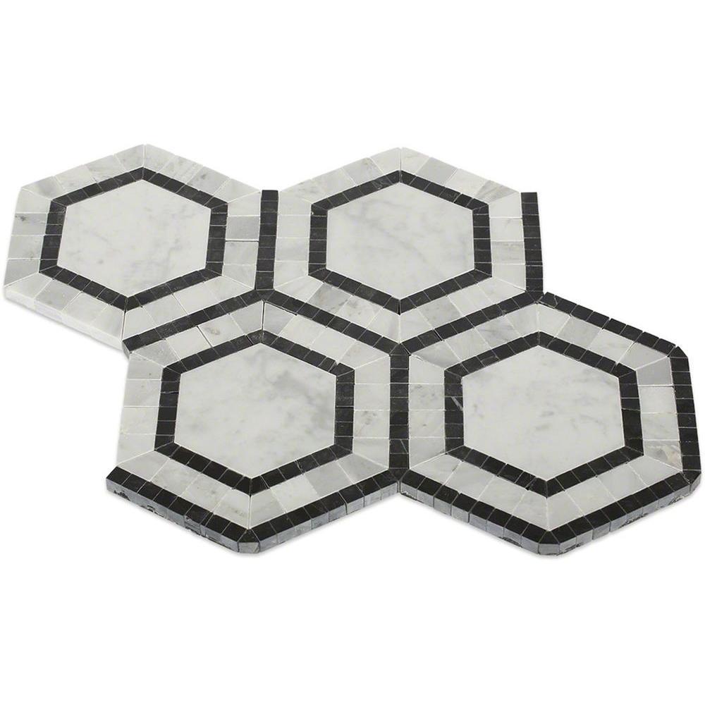 Splashback Tile Sample of Zeta Carrera Polished Marble Tile - 6 in ...
