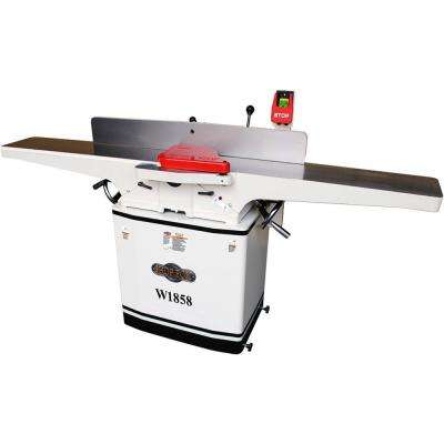 8 in. 230-Volt 3 HP Dovetail Jointer with Spiral Cutterhead and Mobile Base