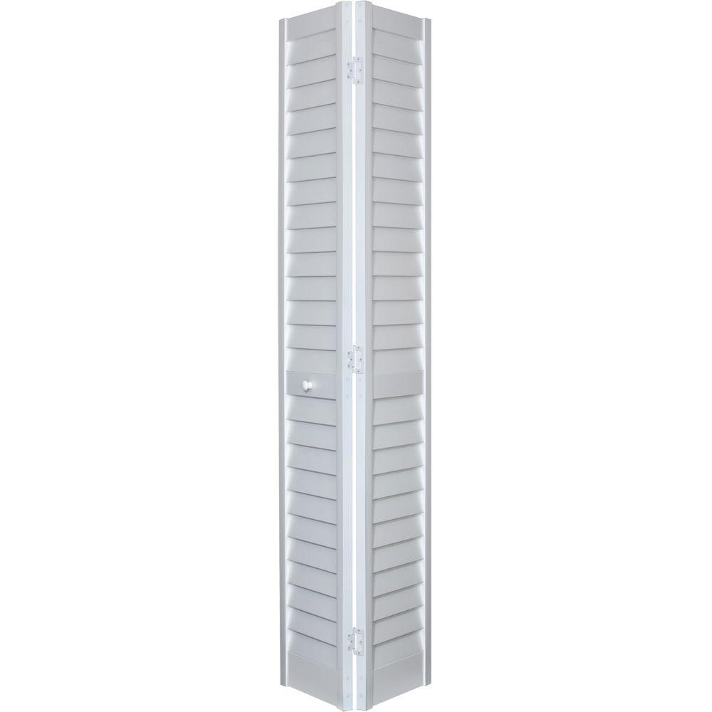 Home Fashion Technologies 36 in. x 80 in. 3 in. Louver/Louver White ...
