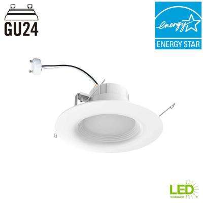 65-Watt Equivalent Softwhite 6 in. GU24 White Integrated LED Recessed Trim