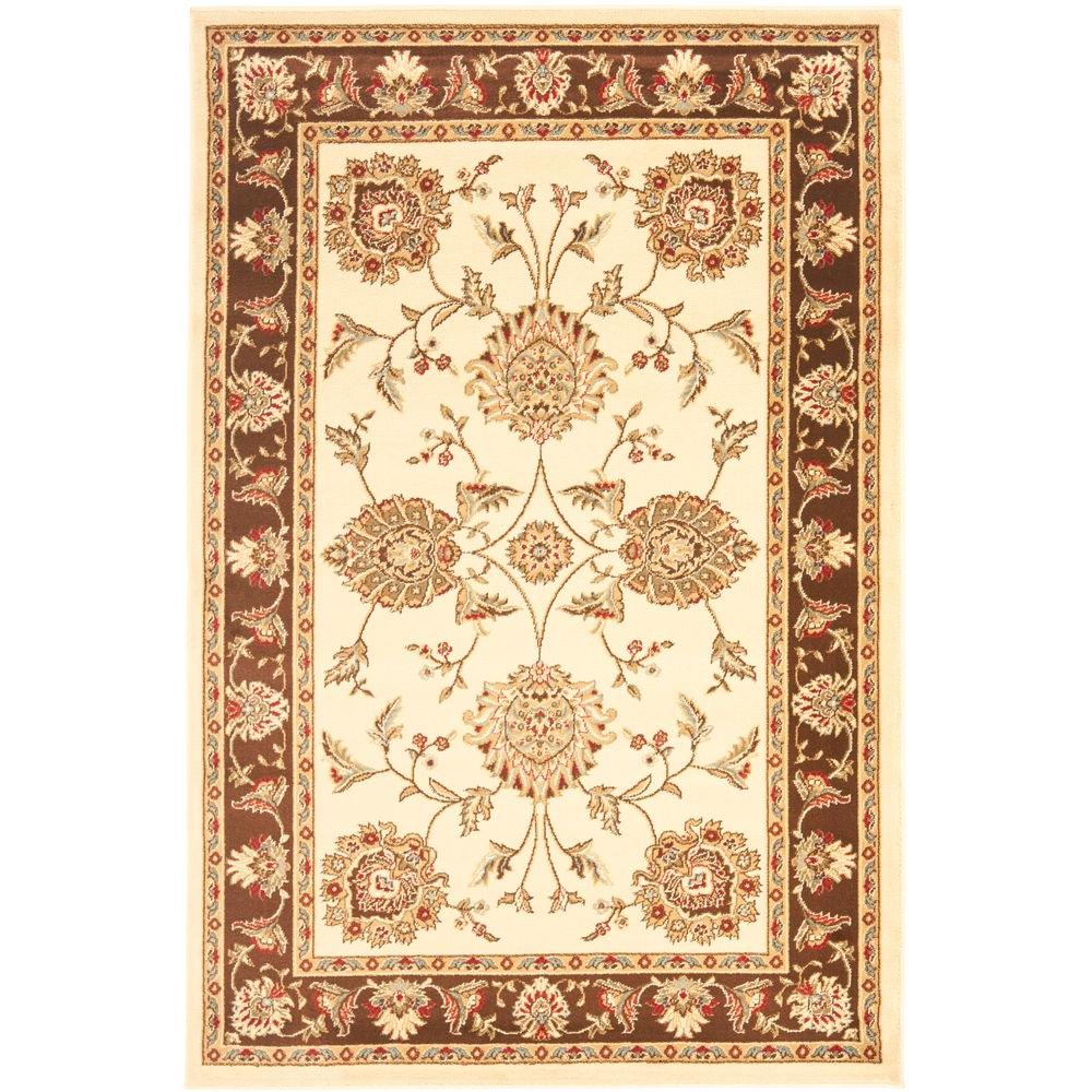 Lyndhurst Ivory/Brown 3 ft. 3 in. x 5 ft. 3 in.