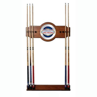 Las Vegas 30 in. Wooden Billiard Cue Rack with Mirror