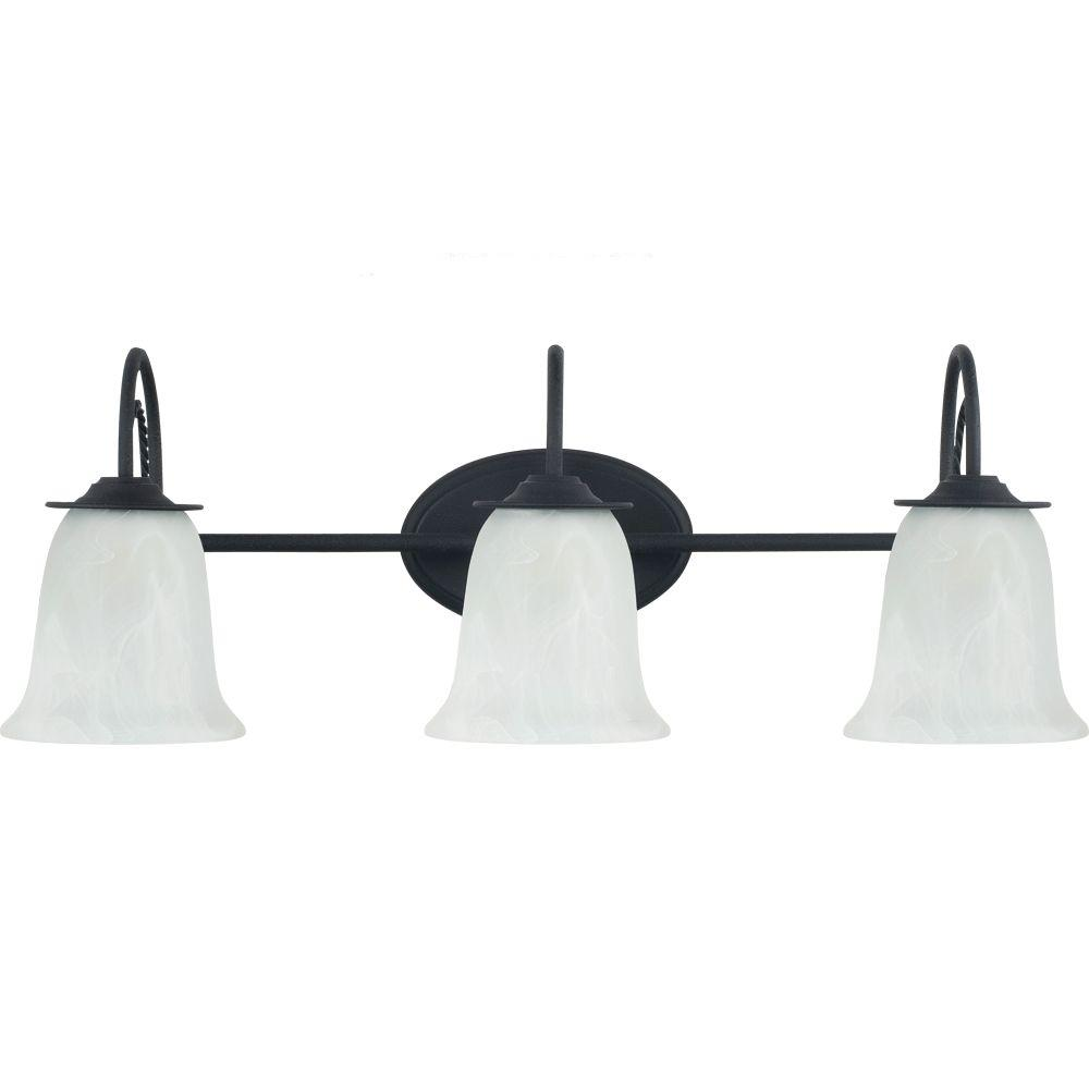 Sea Gull Lighting Plymouth 3-Light Blacksmith Vanity Light