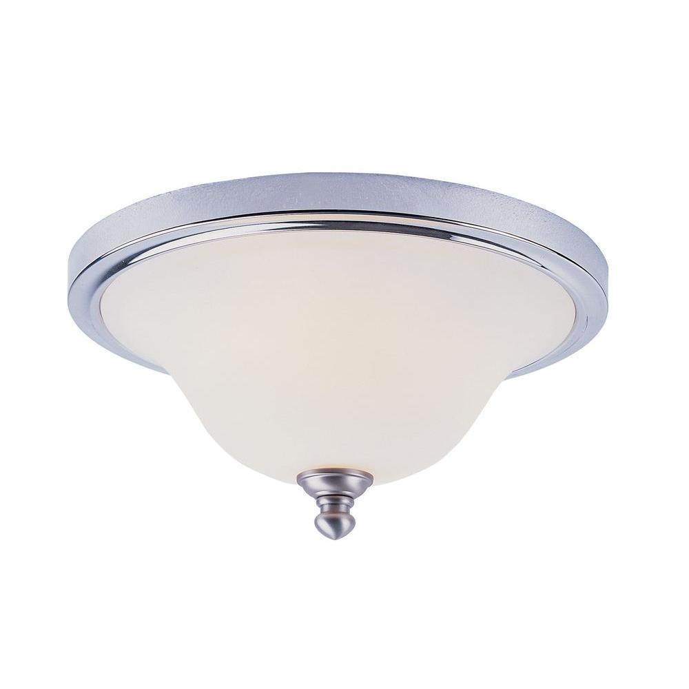 Stewart 2-Light Polished Chrome Incandescent Ceiling Flushmount