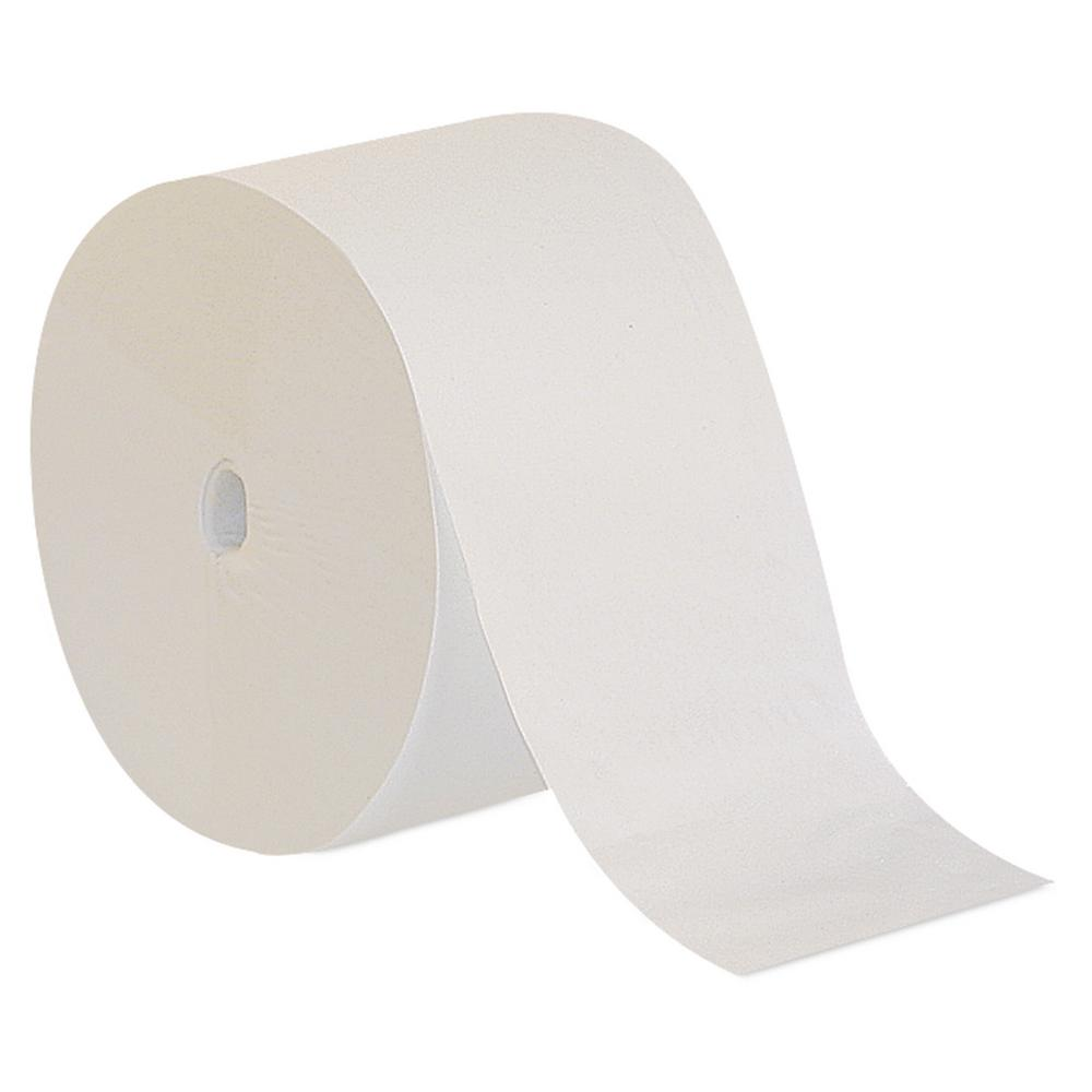 Compact White Coreless High Capacity 1-Ply Bathroom Tissue (18-Rolls)