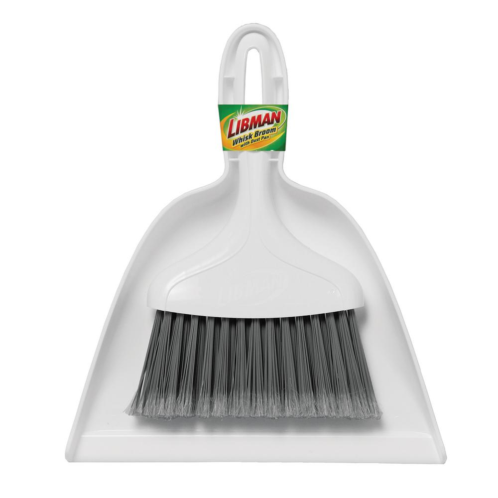 libman 10 in whisk broom and dust pan set 1187 the home depot