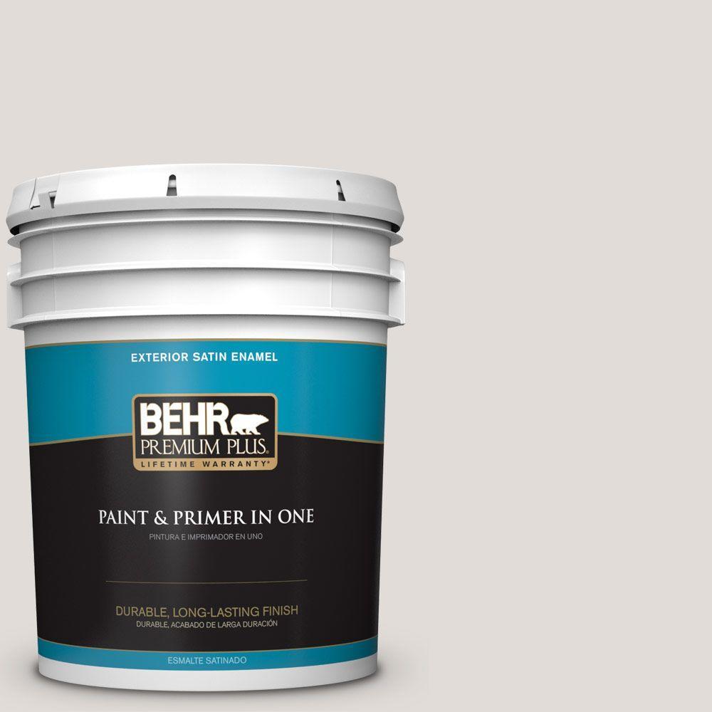 BEHR Premium Plus 5-gal. #PPL-63 Hint of Mauve Satin Enamel Exterior Paint