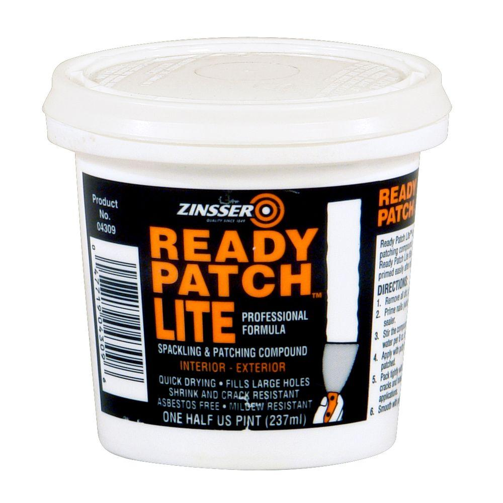 Floor Patching Compound : Zinsser pt ready patch lite spackling and patching