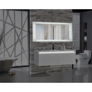 Encore BLU103 70 inch W x 27 inch H Rectangular LED Illuminated Bathroom Mirror with Bluetooth Audio Speakers by