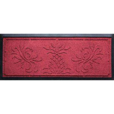 Red Black 15 in. x 36 in. x 0.5 in. Pineapple Boot Tray