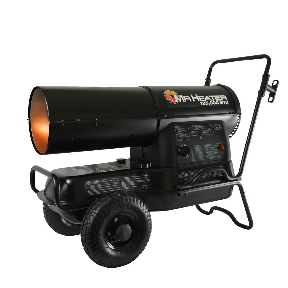 Portable Heater 125,000 BTU Forced Air Kerosene Heater