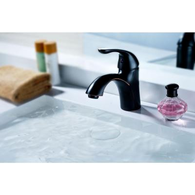 Clavier Series Single Hole Single-Handle Mid-Arc Bathroom Faucet in Oil Rubbed Bronze
