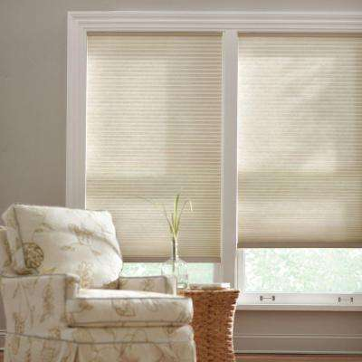 Parchment 9/16 in. Cordless Light Filtering Cellular Shade - 48 in. W x 48 in. L (Actual Size 47.625 in. W x 48 in. L)