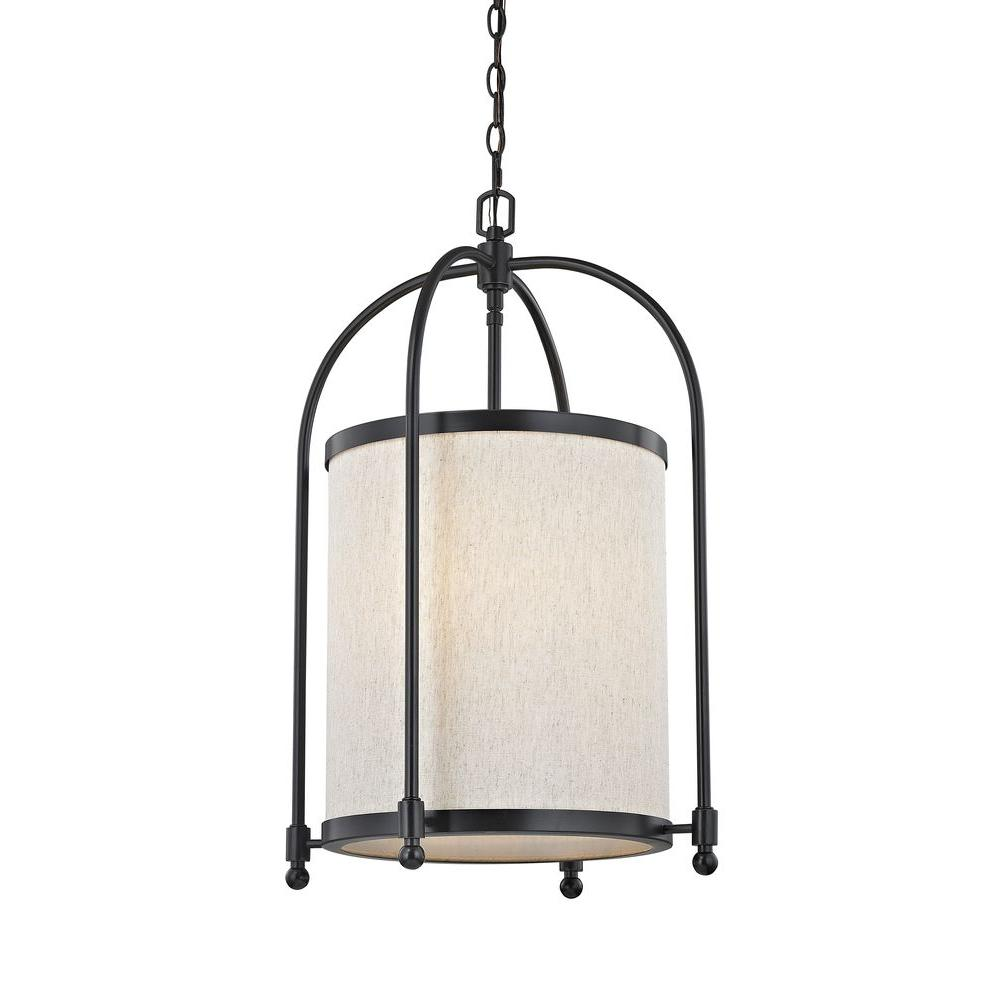 Fifth and main lighting 5 light oil rubbed bronze cylinder pendant fifth and main lighting 5 light oil rubbed bronze cylinder pendant with beige linen aloadofball Choice Image