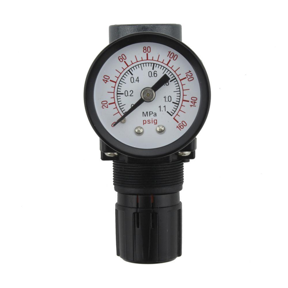 "New 1//4/"" MINI REGULATOR W// GAUGE FOR COMPRESSOR COMPRESSED AIR PRESSURE"