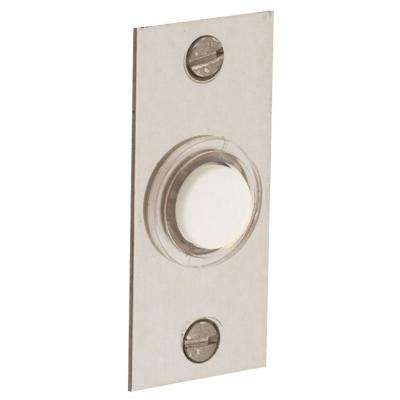 2.5 in. Rectangular Wired Lighted Doorbell Button in Satin Nickel