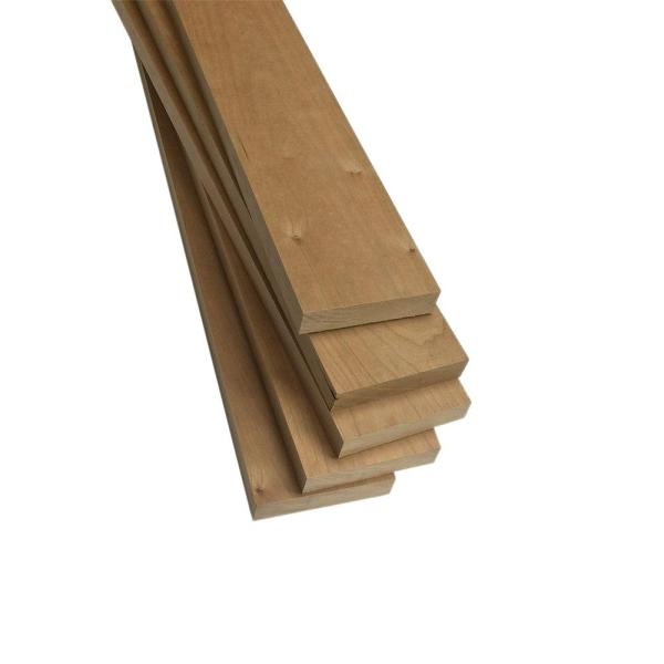 1 in. x 3 in. x 2 ft. FAS Cherry S4S Board (5-Pack)