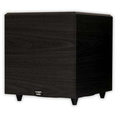Home Theater Powered 12 in. Subwoofer Black Down Firing Sub