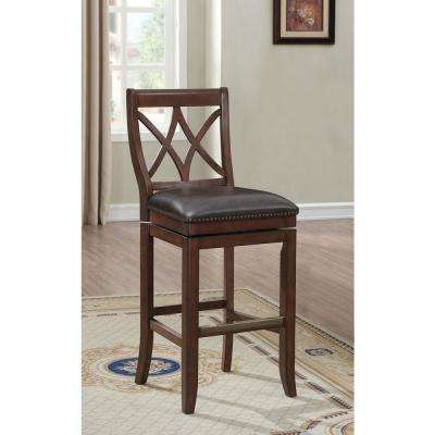 Brown Faux Leather Counter 24 27 Bar Stools Kitchen