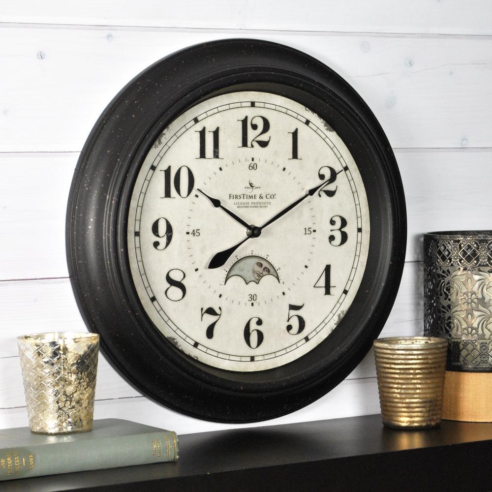 15.5 in. Round Luna Wall Clock