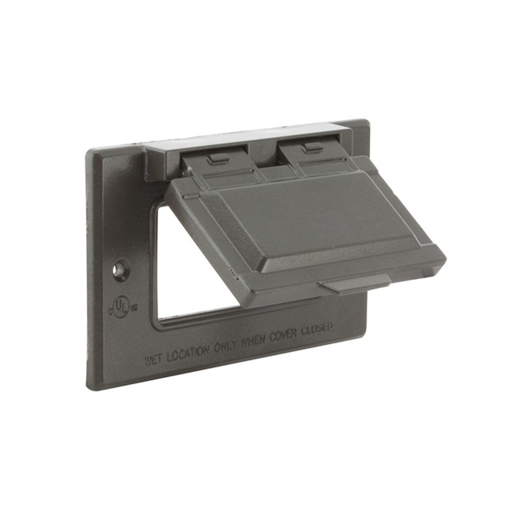 Bell 1 Gang Horizontal Mount Weatherproof Flip Lid Device Cover