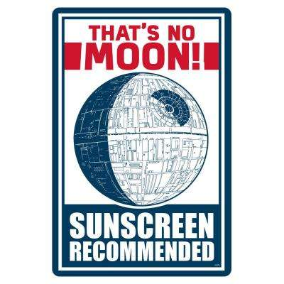 12 in. x 18 in. Star Wars That's No Moon, Sunscreen Recommended Pool Sign