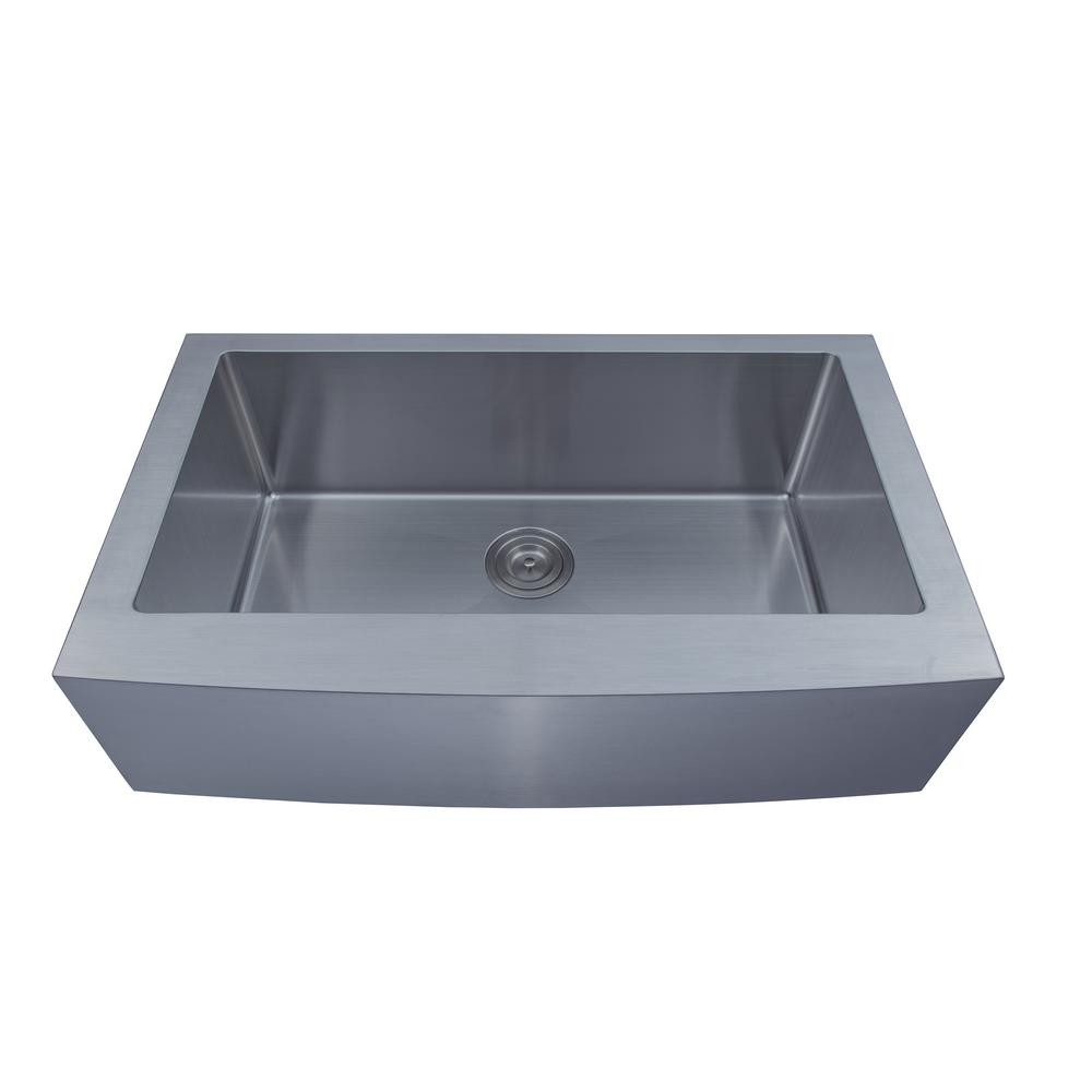 Empire Industries Loft Farmhouse Stainless Steel 33 In. Single Bowl Kitchen  Sink With Grid And