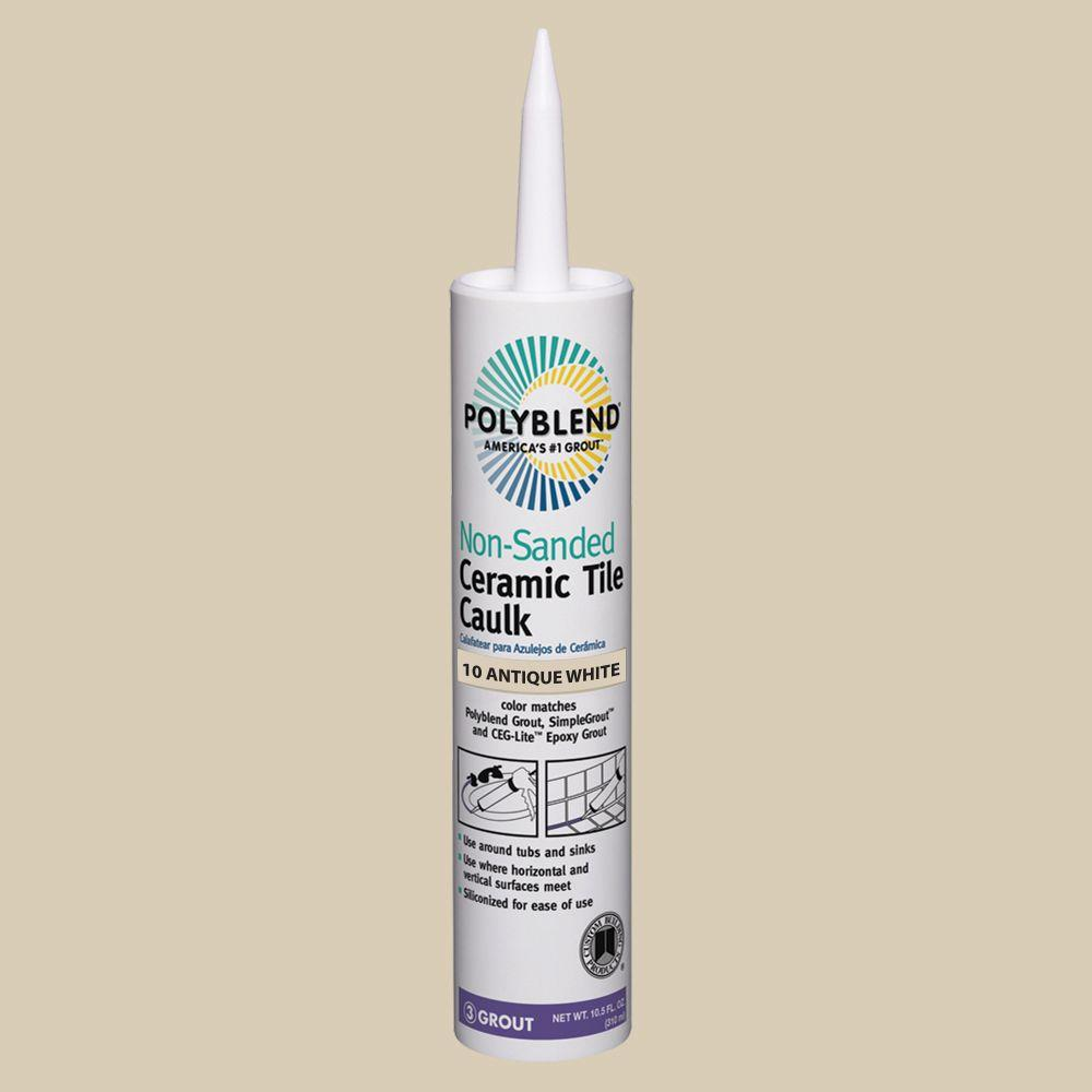 Polyblend #10 Antique White 10.5 oz. Non-Sanded Ceramic Tile Caulk