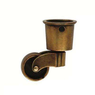 2-5/8 in. x 1-1/2 in. Brown Windsor Antique Furniture Caster