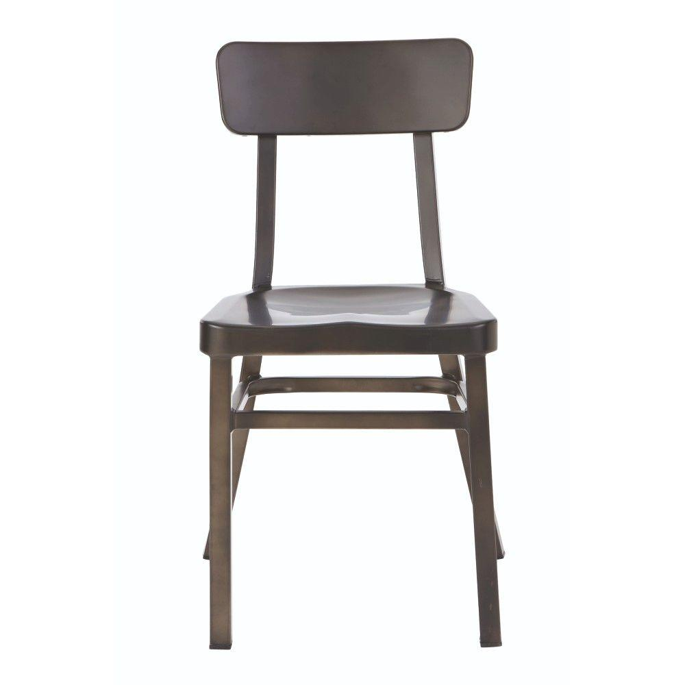 Home Decorators Collection Jacob Gun Metal Aluminum Stacking Side Chair  (Set Of 2)