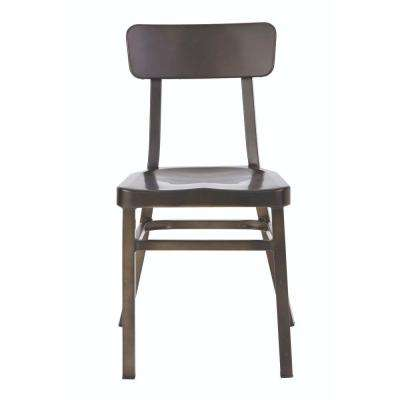 Jacob Gun Metal Aluminum Stacking Side Chair (Set of 2)