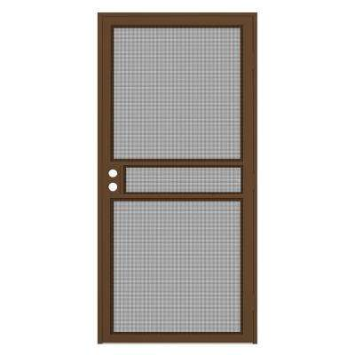 32 in. x 80 in. Copper Surface Mount ClearGuard Security Door with Meshtec Screen
