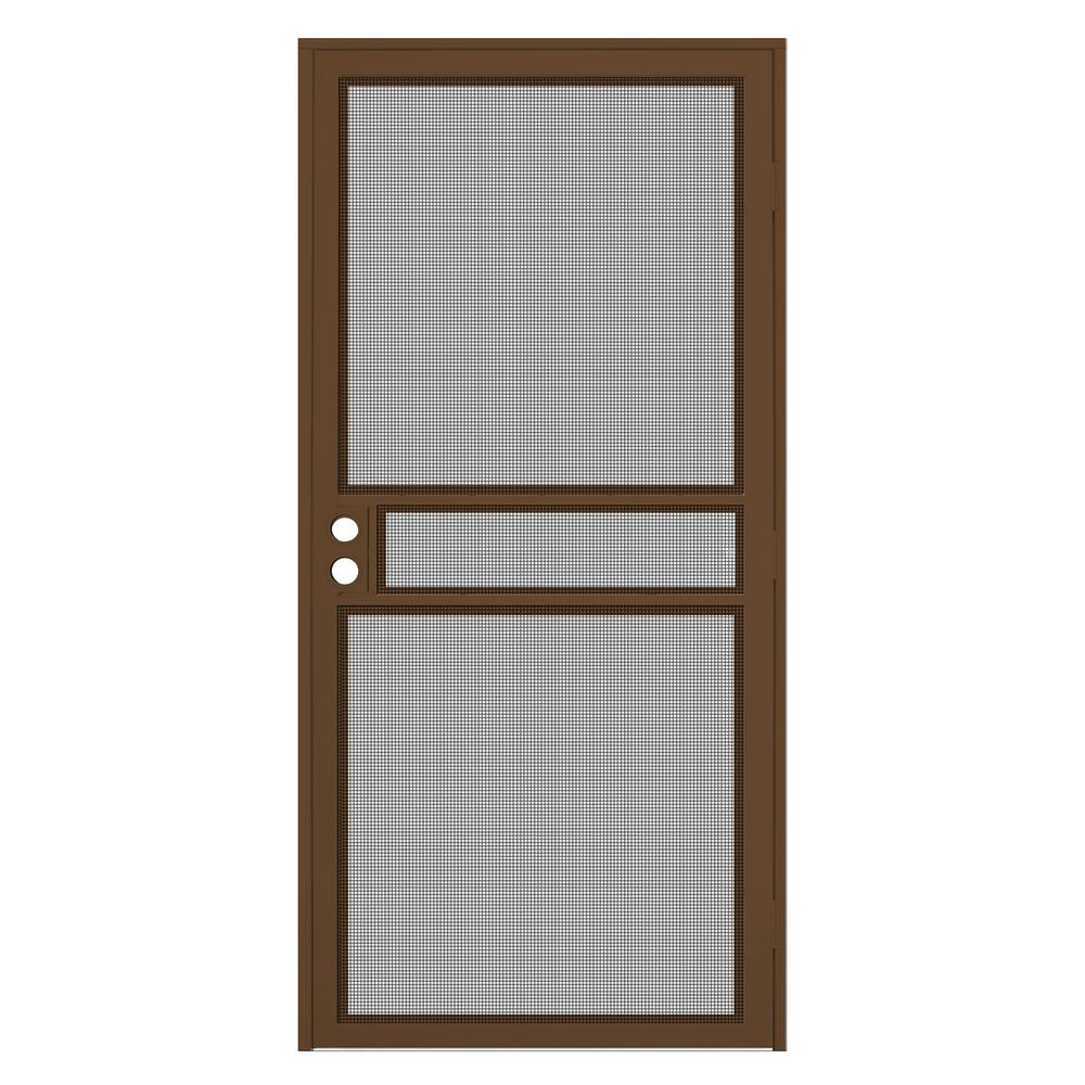 Unique home designs 36 in x 80 in copper surface mount - Unique home designs security screen doors ...