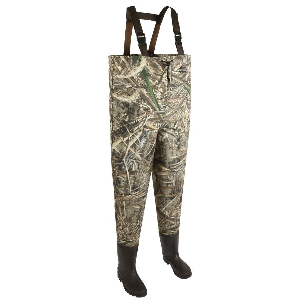 Allen Ridgeway 2-Ply Bootfoot Camo Waders, Size 10, Realtree MAX-5 Camo by Allen