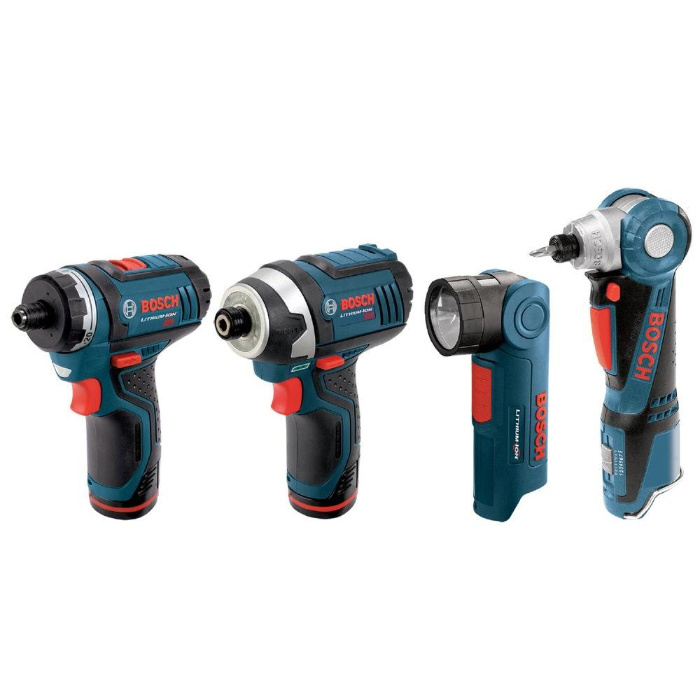 Bosch 12-Volt Max Lithium-Ion Combo Kit (4-Tool)