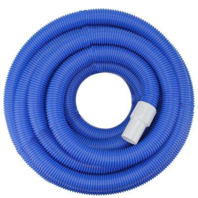 25 ft. x 1.5 in. Blue Blow-Molded PE In-Ground Swimming Pool Vacuum Hose with Swivel Cuff