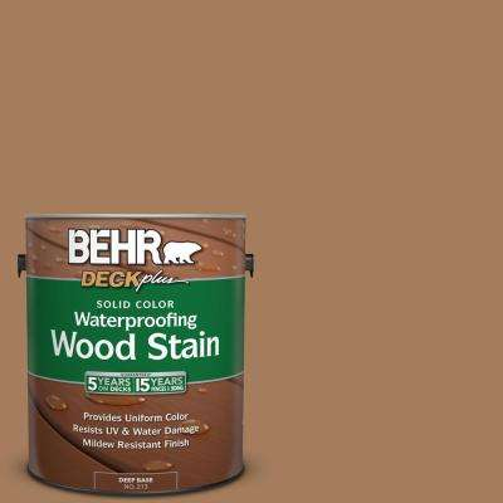 1 gal. #SC-158 Golden Beige Solid Color Waterproofing Wood Stain