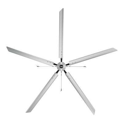 Titan 16 ft. 220-Volt Indoor/Outdoor Anodized Aluminum 3 Phase Industrial Ceiling Fan
