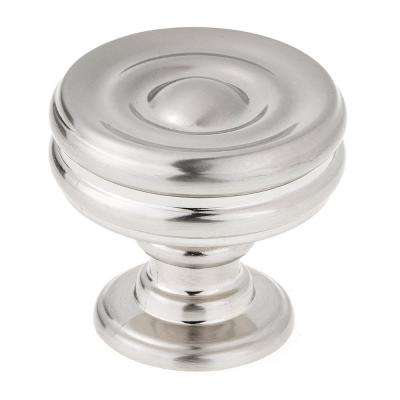 1-3/8 in. Brushed Nickel Modern Metal Cabinet Knob