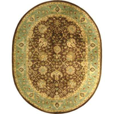 Antiquity Brown/Green 8 ft. x 10 ft. Oval Area Rug