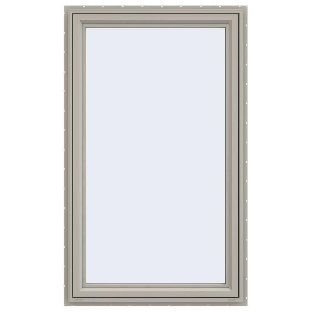 JELD-WEN 35.5 in. x 59.5 in. V-4500 Series Right-Hand Casement Vinyl Window - Tan